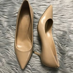 Michael Kors Nude Leather Pointed Pumps size 37 7
